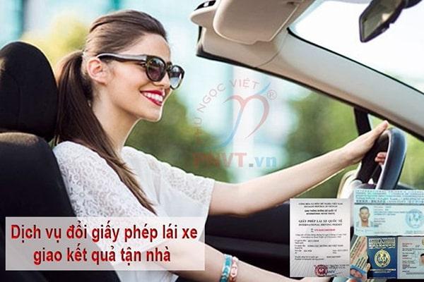 dịch vụ đổi bằng lái xe