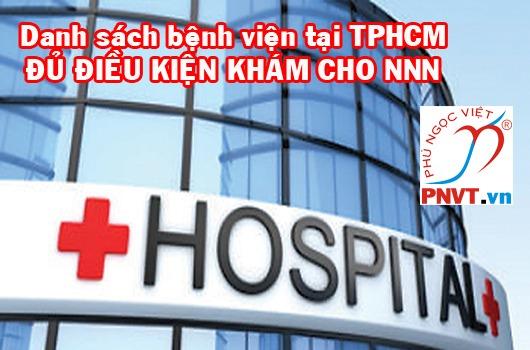 bệnh viện khám sức khỏe làm giấy phép lao động