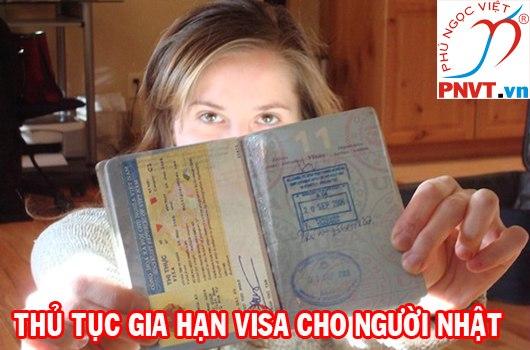 thủ tục gia hạn visa cho người nhật