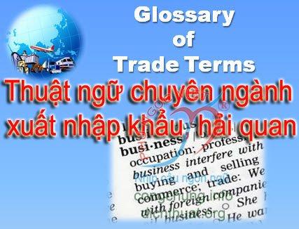 thuật ngữ chuyên ngành xuất nhập khẩu