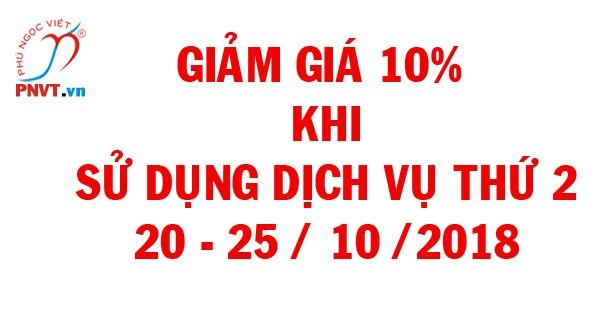 Giảm 10% phí dịch vụ thứ 2 khi làm giấy phép lao động tại PNVT, khuyến mãi nhân ngày Phụ nữ Việt Nam 20/10