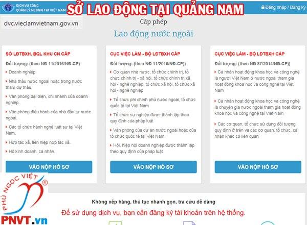 Sở lao động thương binh và xã hội tỉnh Quảng Nam