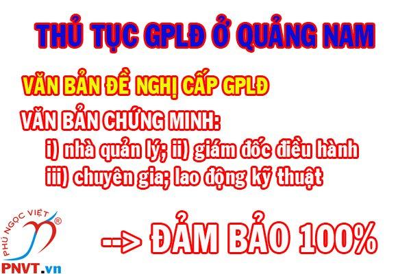 Thủ tục cấp giấy phép lao động cho người nước ngoài ở Quảng Nam