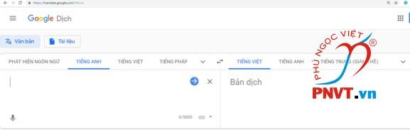 dịch thuật tiếng anh online bằng google dịch