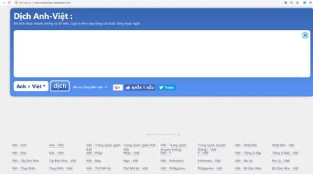 dịch thuật tiếng anh online bằng vietnamese translate