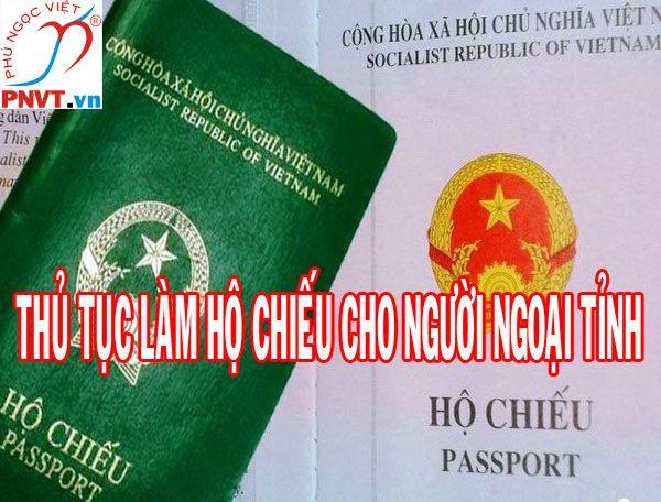 thủ tục làm hộ chiếu cho người ngoại tỉnh