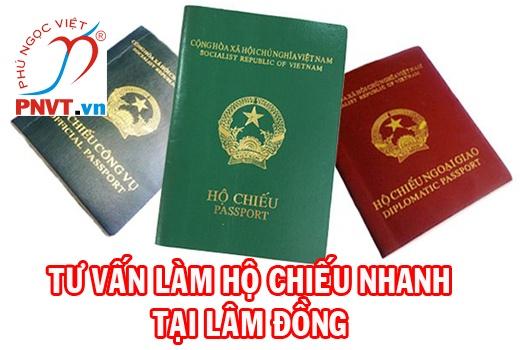 làm hộ chiếu ở lâm đồng