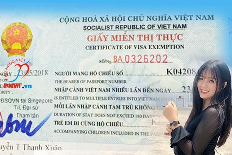 Sở hữu giấy miễn thị thực 5 năm trong ngày