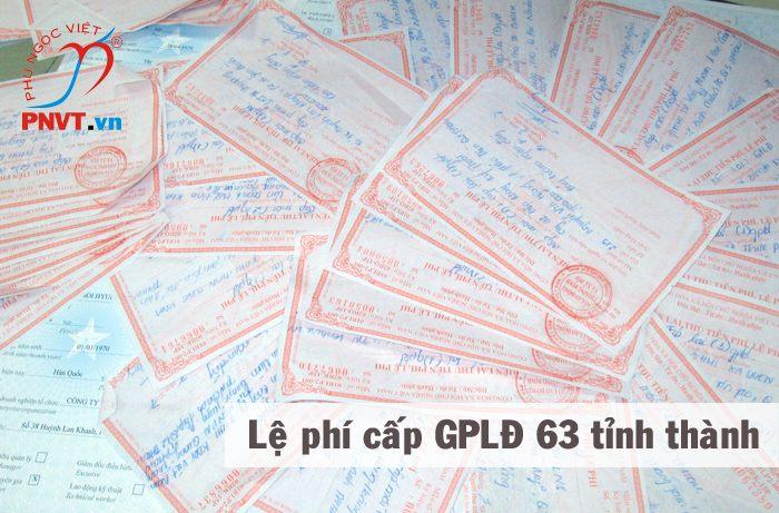 lệ phí cấp giấy phép lao động