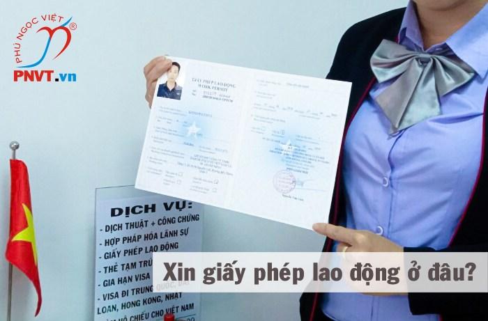 xin giấy phép lao động ở đâu