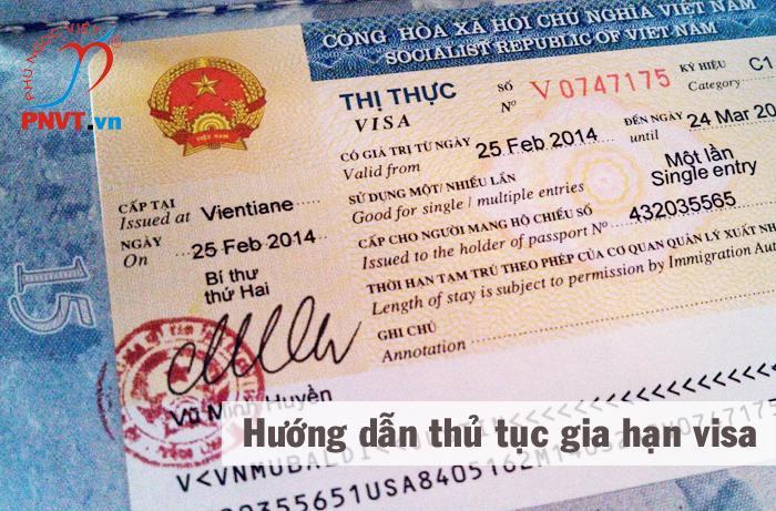 hướng dẫn thủ tục gia hạn visa