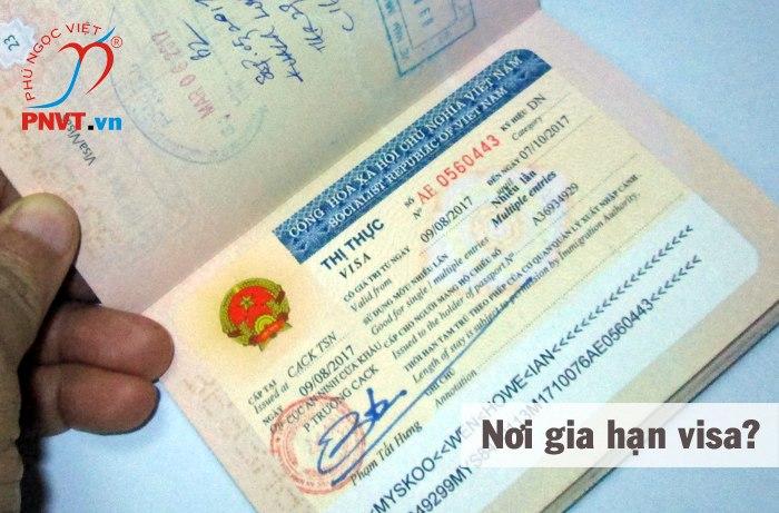 nơi gia hạn visa
