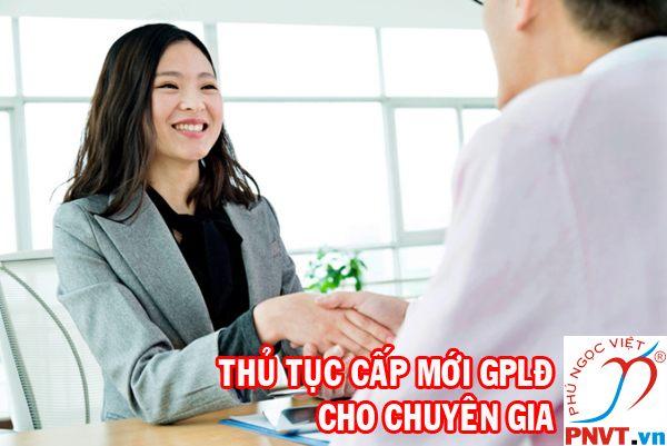 thủ tục cấp mới giấy phép lao động cho chuyên gia