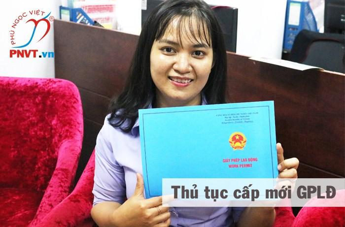 thủ tục cấp mới giấy phép lao động
