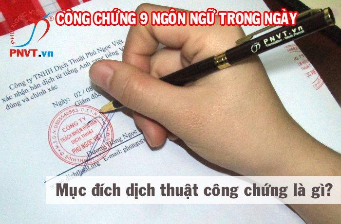 dịch thuật công chứng giấy tờ, văn bản để làm gì