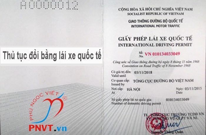 thủ tục đổi giấy phép lái xe quốc tế