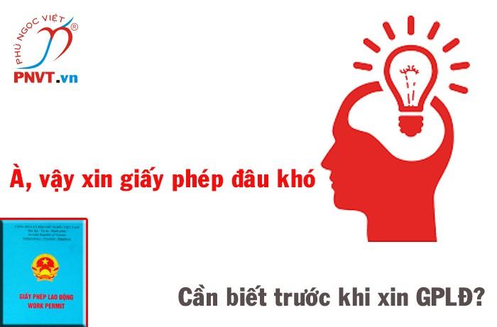 Dịch vụ làm giấy phép lao động cho người nước ngoài tại Bình Thạnh, TPHCM