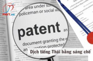 Dịch công chứng tiếng Thái bằng sáng chế