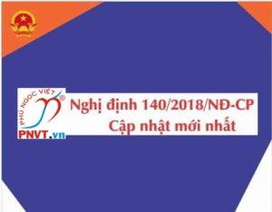 Nghị định số 140/2018/NĐ-CP quy định một phần về việc làm giấy phép lao động