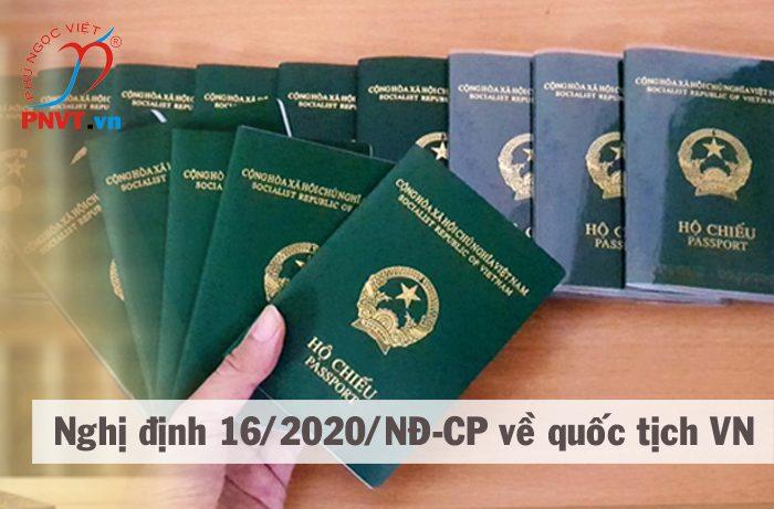 nghị định 16/2020/NĐ-CP quy định thi hành Luật Quốc tịch Việt Nam