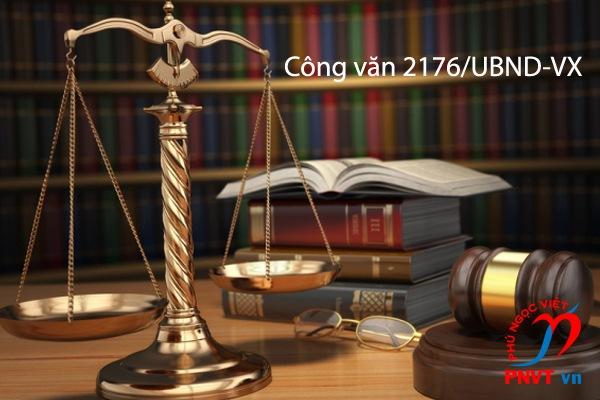 Công văn 2176/UBND-VX