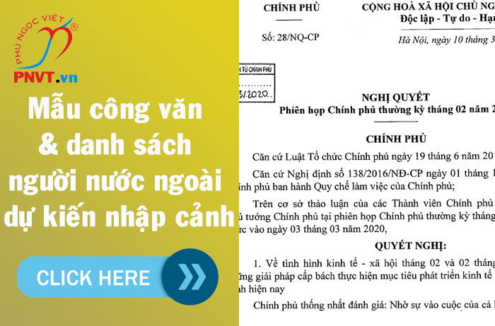 Mẫu công văn và danh sách lao động nước ngoài dự kiến nhập cảnh TPHCM