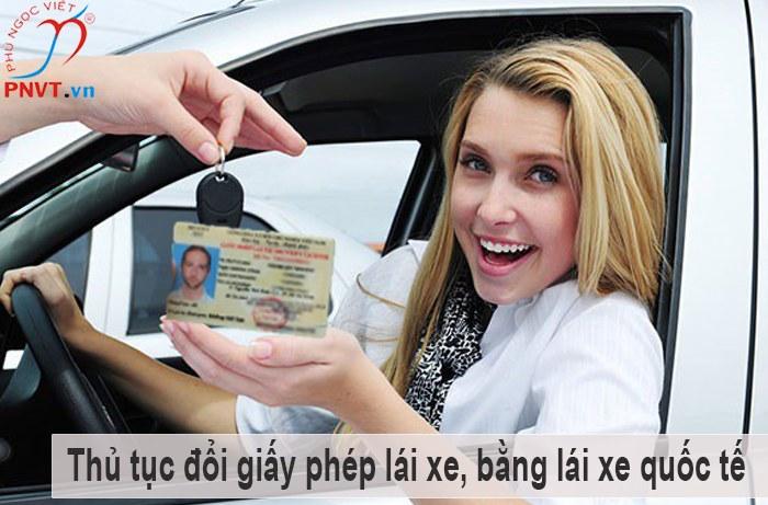 thủ tục đổi giấy phép lái xe bằng lái xe quốc tế