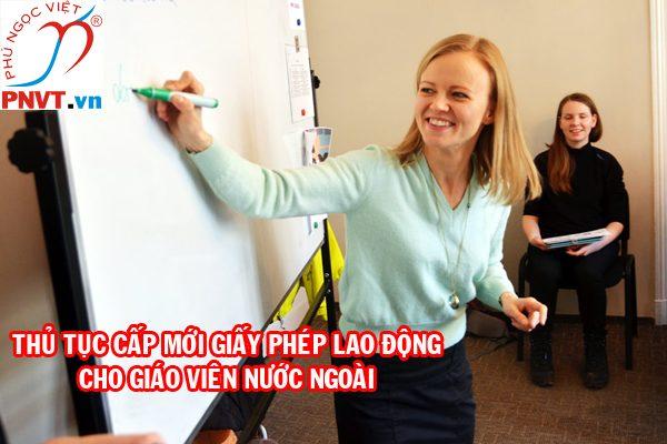 giấy phép lao động cho giáo viên