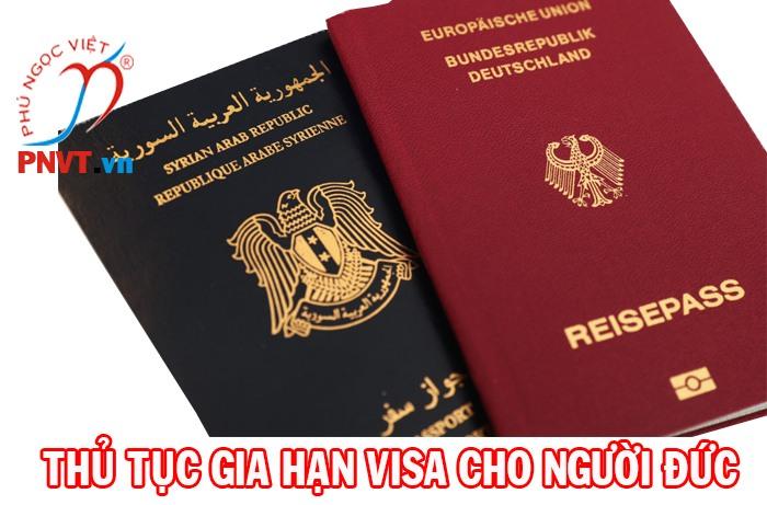 thủ tục gia hạn visa cho người đức ở việt nam