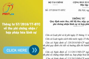 thông tư số 157/2016/TT-BTC quy định thu phí hợp pháp hóa lãnh sự