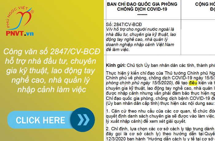 Xin nhập cảnh vào Việt Nam làm việc sau dịch Covid - 19 như thế nào