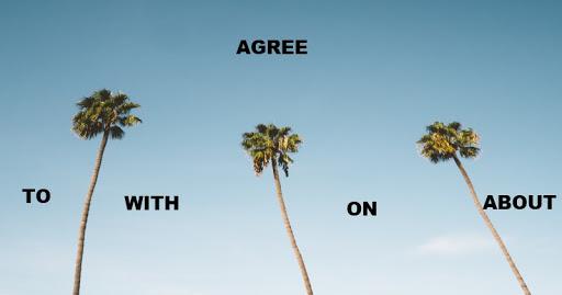 Bài tập trắc nghiệm agree on/about, agree to, agree with có đáp án