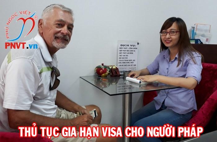 hồ sơ gia hạn visa cho người pháp