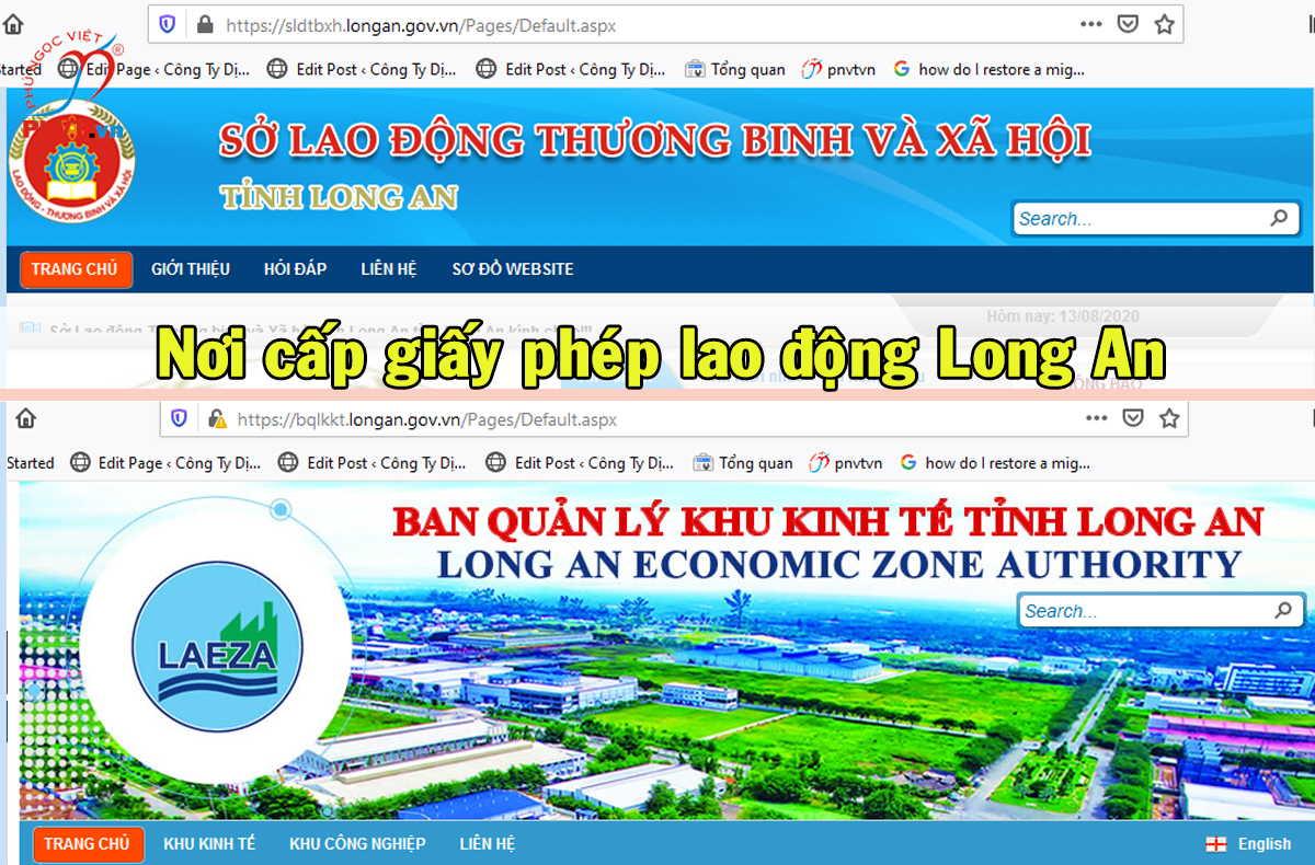 Cơ quan có thẩm quyền cấp giấy phép lao động ở Long An