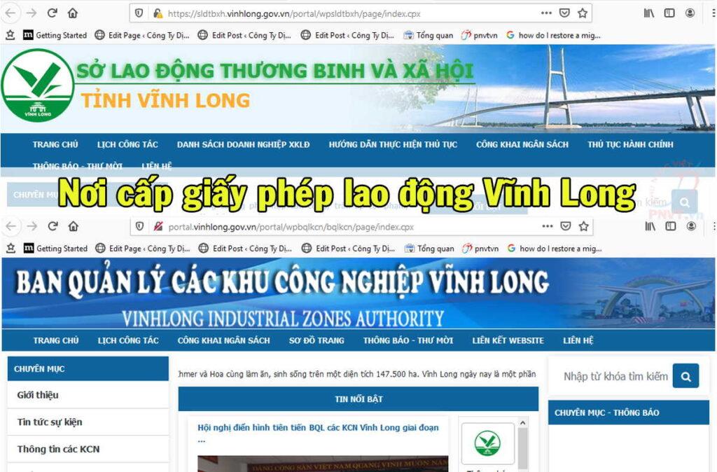 Cơ quan giải quyết thủ tục xin cấp giấy phép lao động ở Vĩnh Long