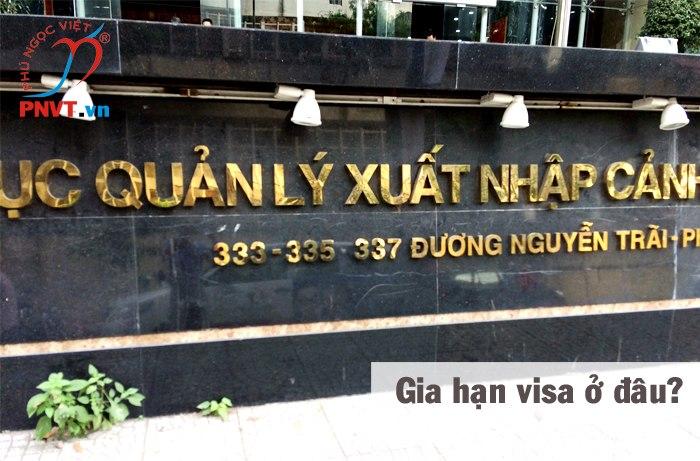 gia hạn visa việt nam ở đâu