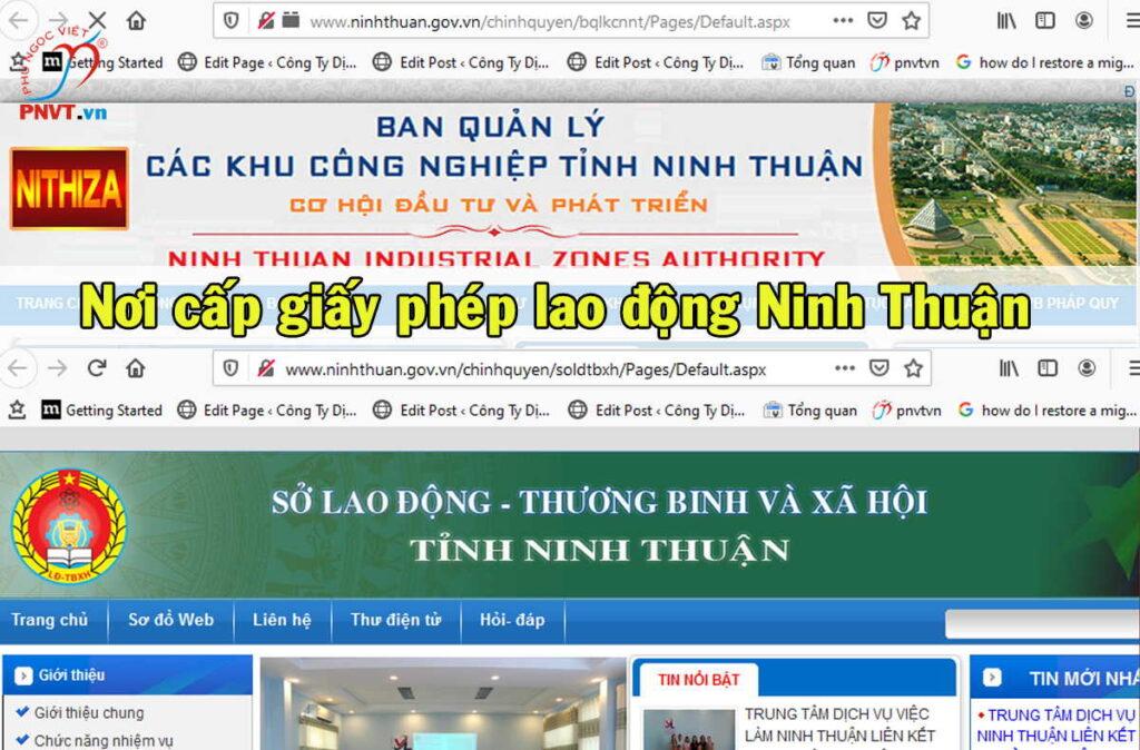 Nơi cấp giấy phép lao động tại Ninh Thuận