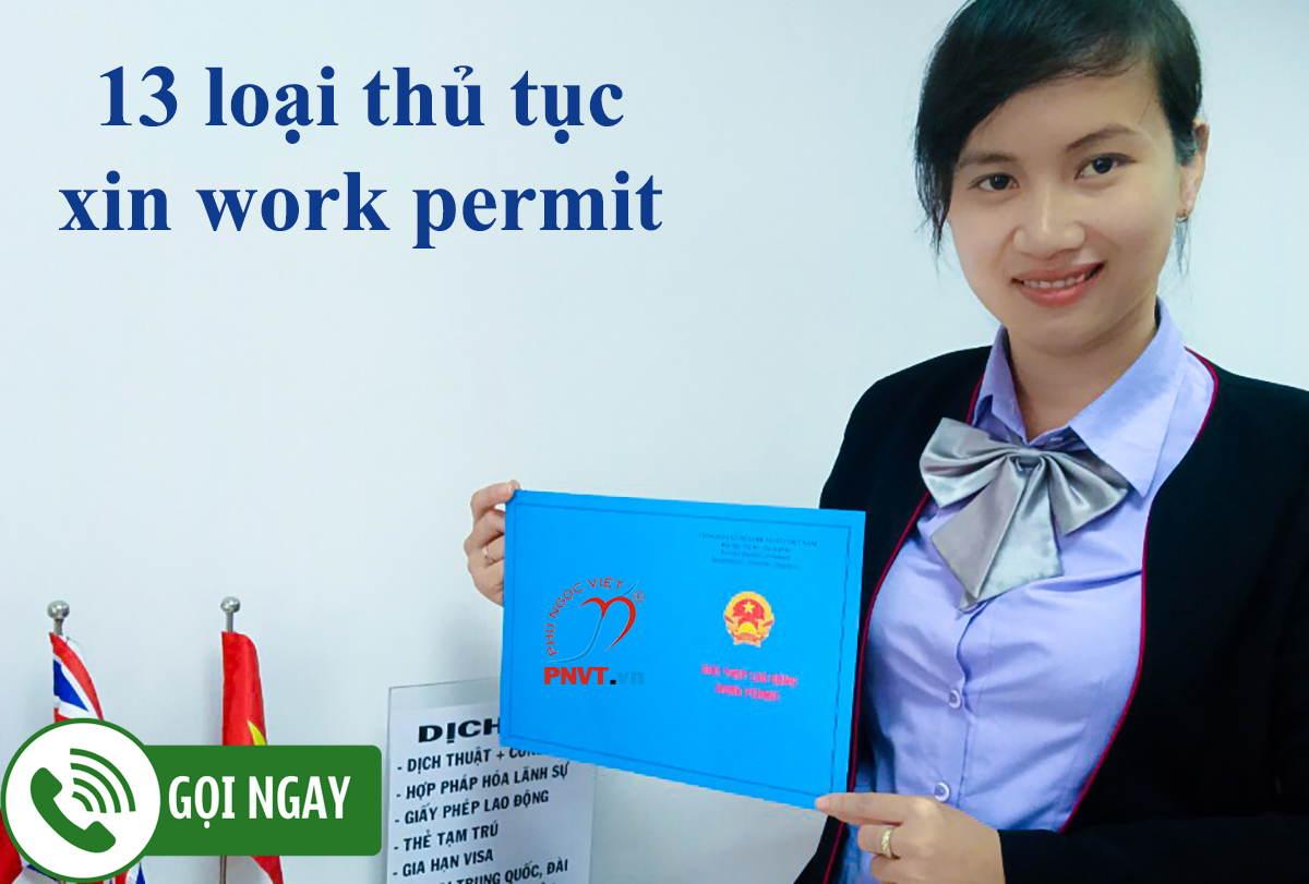 hồ sơ làm work permit