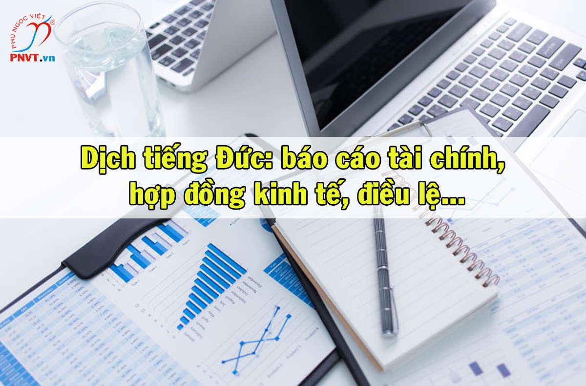 dịch tiếng đức sang tiếng việt báo cáo tài chính