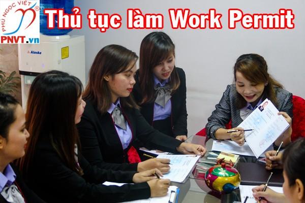 thủ tục làm work permit