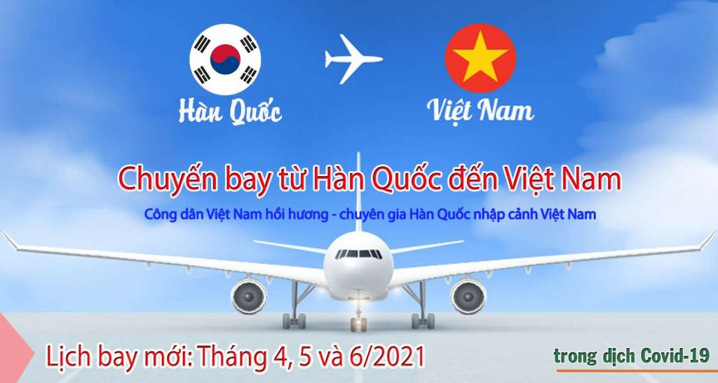 chuyến bay từ Hàn về Việt Nam
