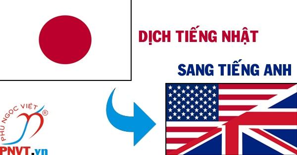 Dịch tiếng nhật sang tiếng Anh