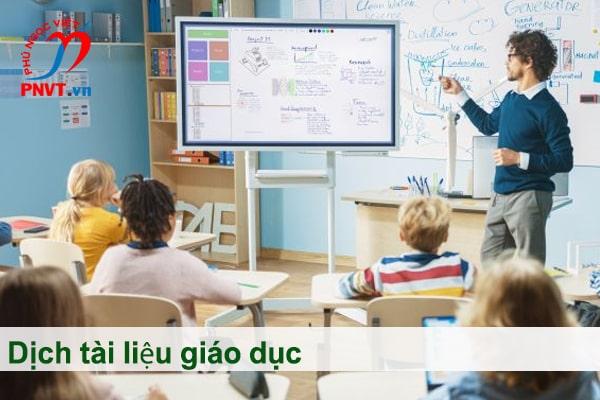 dịch tài liệu giáo dục