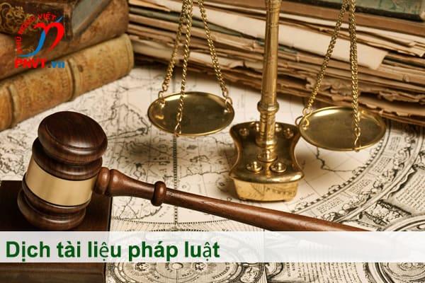 Dịch công chứng tài liệu pháp luật