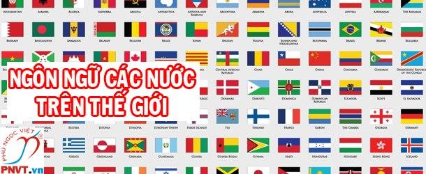 Ngôn ngữ của các nước trên thế giới