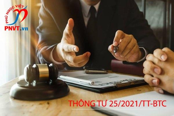Thông tư 25/2021/TT-BTC