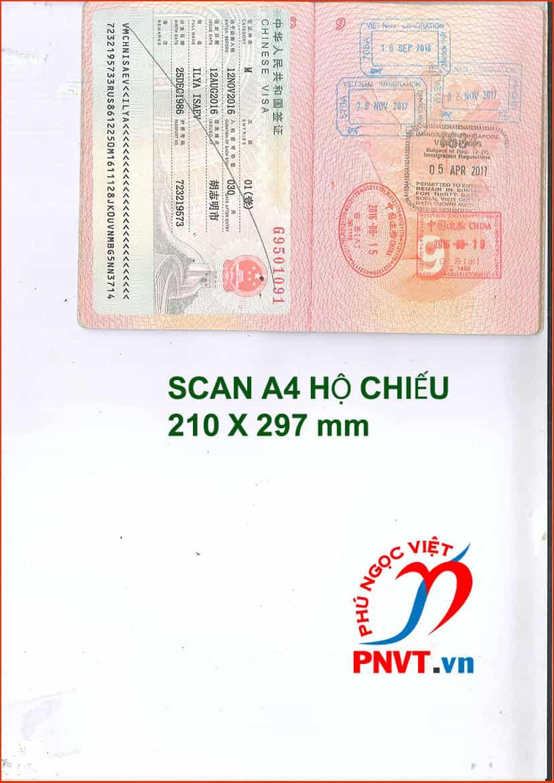 mẫu scan A4 hộ chiếu